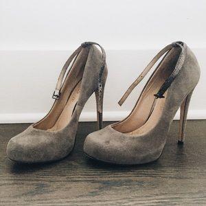 Grey Suede Aldo Shoes